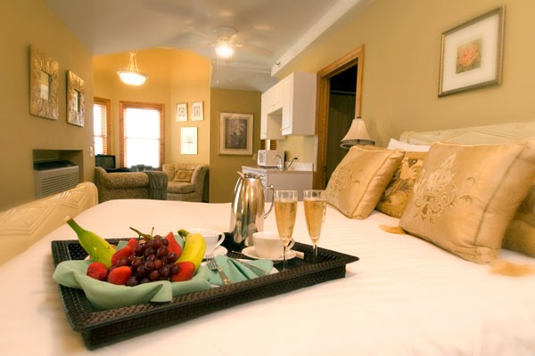 Luxury Room 9 bed seating area and kitchenette