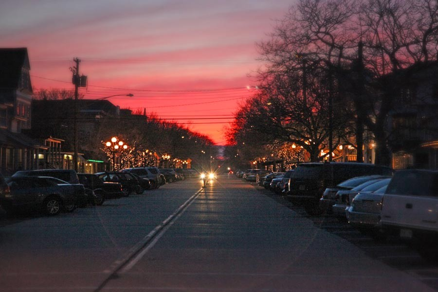 Ocean Grove downtown sunset