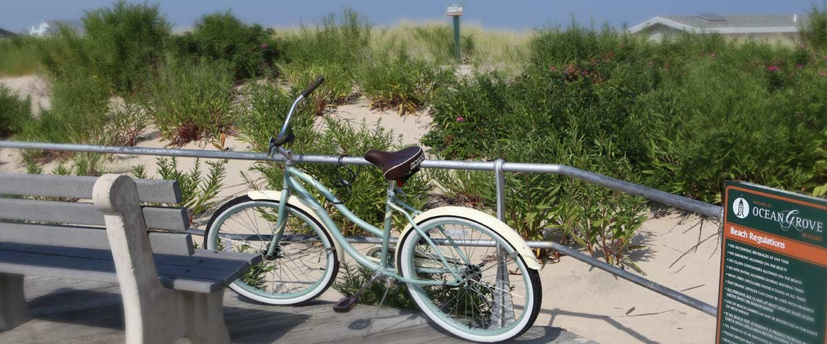 Beach bike in Ocean Grove NJ
