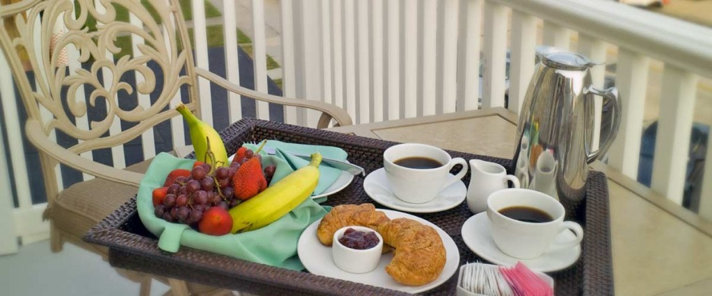 Continental breakfast on the porch